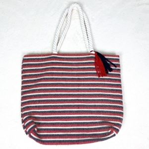 NWT Tommy Bahama XL Beach Tote Red/White/Blue